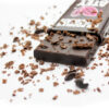 Atey Ate Chocolate bar with Chocolate shavings and cacao nib pile
