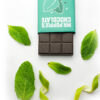 Uplifting Mint Chocolate bar with mint leaves and lime zest