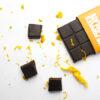 Euphoric Orange Chocolate bar with orange zest and chocolate squares