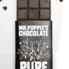 Pure Peruvian Chocolate bar with cacao nibs and chocolate squares