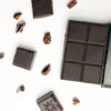 Pure Peruvian Chocolate with cacao nibs and chocolate squares